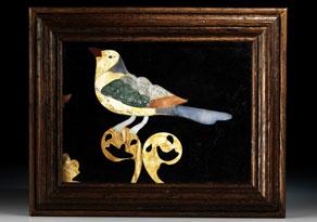 Detail images:  Pietra Dura-Bildtafel