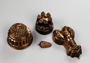 Detail images:  Konvolut von vier Kupfermodeln