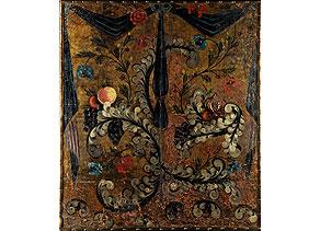 Detail images:  Fragment einer Ledertapete