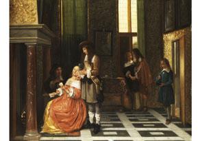 Pieter de Hooch,  1629 Rotterdam - 1684, nach