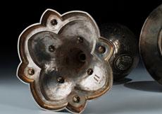 Detail images: Silberkelch mit Emaildekor