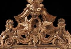 Detail images: Großer barocker Wandspiegel