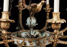 Detail images: Paar Empire-Hängeleuchter