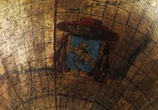 Detail images: Paar Globen auf geschnitzten Holzsockeln