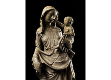 Detail images: Bedeutende französische Steinmadonna des 14./15. Jahrhunderts