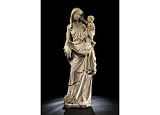 Detailabbildung: Bedeutende französische Steinmadonna des 14./15. Jahrhunderts