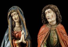 Detail images: Altbayerischer Bildschnitzer im Umkreis von Erasmus Grasser (1450 - 1518)