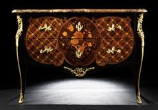 Detail images: Bedeutende Louis XV-Kommode, im Transitionsstil, R. La Croix, zug.