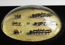 Detail images: Briefbeschwerer mit ovalem Glassturz