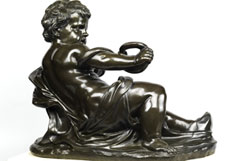 Detail images: Bronzefigur eines kindlichen Herkules