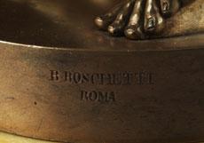 Detail images: Bronzestandbild des Kaisers Augustus