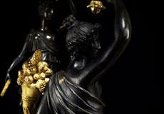 Detail images: Paar bedeutende Empire-Tischkandelaber