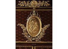 Detail images: Eleganter, reich dekorierter Klappsekretär im Stil Napoleon III