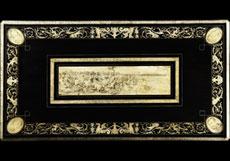 Detail images: Möbelgarnitur in ebonisiertem Holz mit reicher Elfenbeinmarketerie