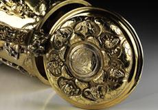 Detail images: Seltener, feuervergoldeter Silberhumpen mit allegorischen Planetendarstellungen