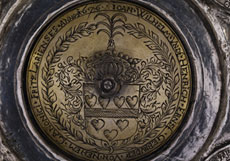 Detail images: Großer barocker Deckelbecher in Silber