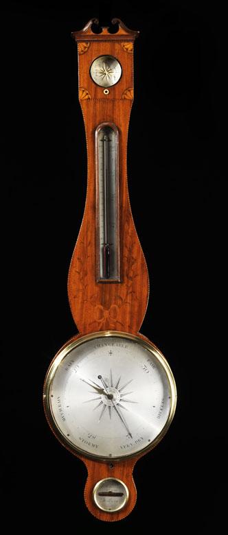 Englisches Banjobarometer mit Quecksilbersäule
