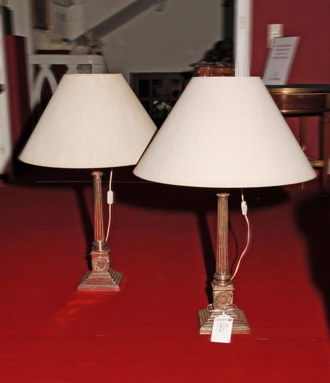 Paar Lampen mit Schirm
