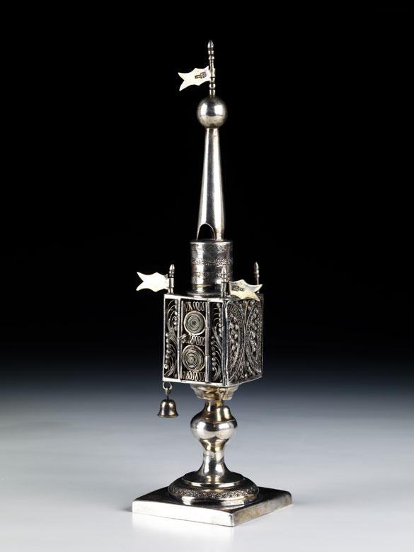 Besomim-Büchse in Form eines Turmes