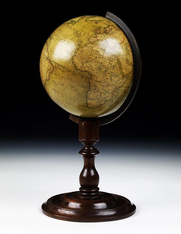 Newton's...terrestrial Globe/ London/ Fleet Street Temple Bay