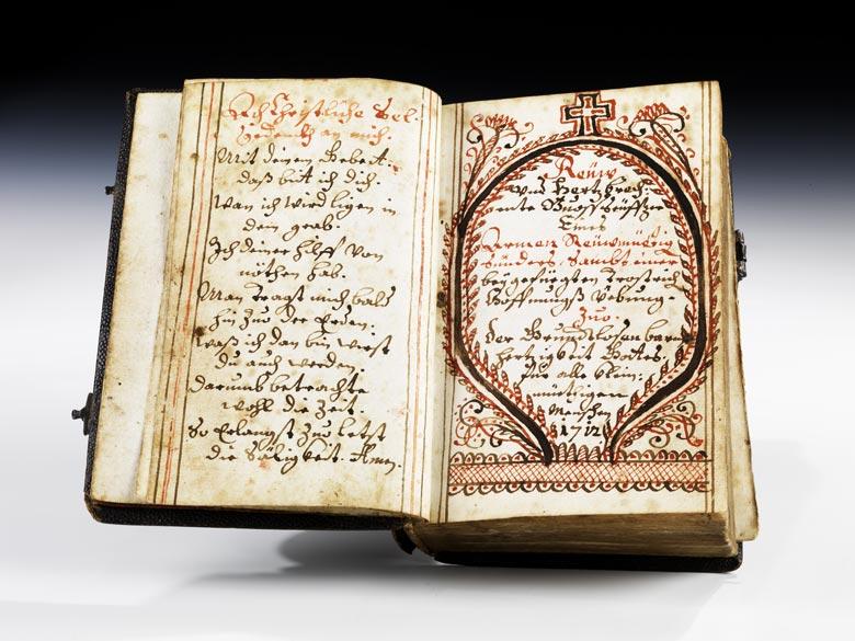 Handgeschriebenes Gebetbuch