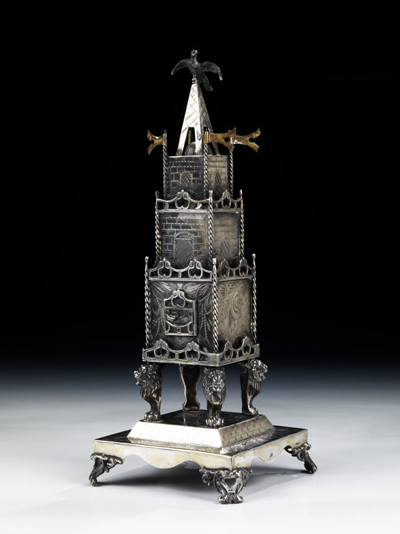 Silberne Besomim-Büchse