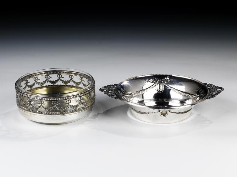 Zwei Konfektschalen aus Silber