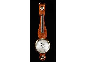 Detail images:  Englisches Banjobarometer mit Quecksilbersäule