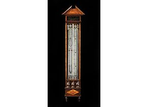 Detail images:  Niederländisches Bakbarometer mit einfacher Röhre, Barometer und Thermometer mit Quecksilberfüllung