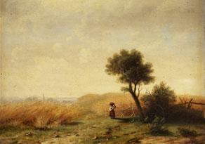 Detail images:  August Friedrich Reinhardt, zug., 1831 Leipzig - 1915 Dresden