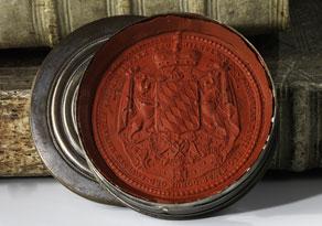 Detail images:  Siegelkapsel mit Siegelabdruck