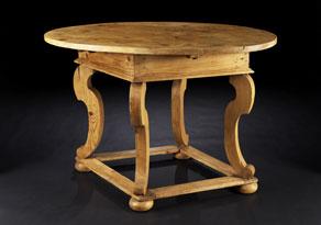 Detail images:  Bäuerlicher Barock-Tisch