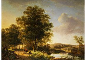 Detail images:  Andreas Schelfhout, 1787 Den Haag - 1870 Den Haag, zug.