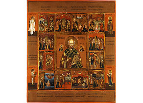 Detail images:  Ikone mit der Nikolaus-Vita