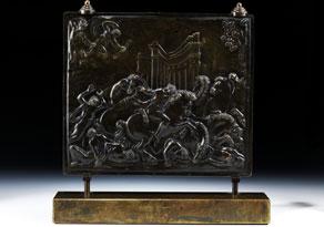 Detail images:  Bildreliefplatte in Bronze