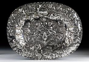Detail images:  Ovale Silberschauplatte