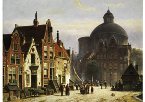 Detail images:  Willem Koekkoek, 1839 - 1890