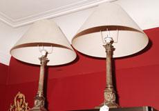 Detail images: Paar Lampen mit Schirm