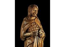 Detail images: Standfigur des Heiligen Johannes Baptist
