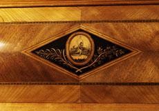 Detail images: Seltenes Doppelzylinderbureau