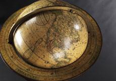 Detail images: Großer Erdglobus mit Kompass