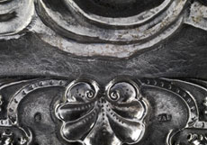 Detail images: Paar Silberbildreliefs