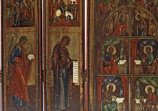 Detail images: Seltene Reise- oder Falt-Ikonostase
