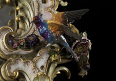 Detail images: Bedeutender, großer Kaminspiegel in Meissener Porzellan