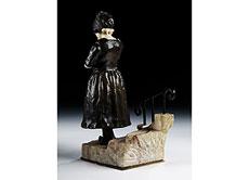 Detail images: Bronzefigur eines holländischen Mädchens