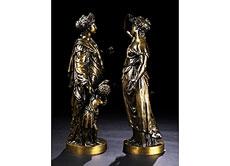 Detail images: Paar große Bronzfiguren