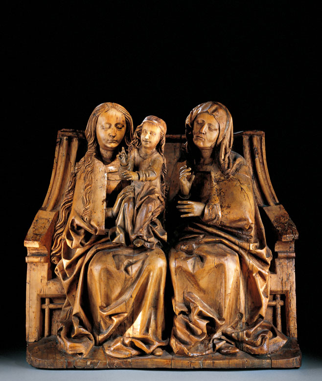 Seltene Darstellung des Marien-Thrones mit Mutter Anna, Maria und Maria Salome