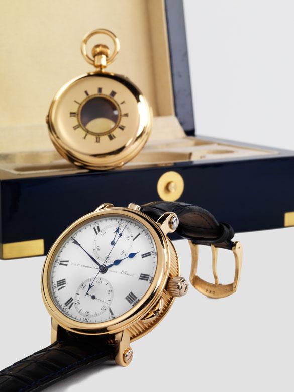 """Herrentaschenuhr """"Half Hunter"""", signiert """"Chas Frodsham, AD Fmsz"""" (umgebaut auf eine Armbanduhr)"""
