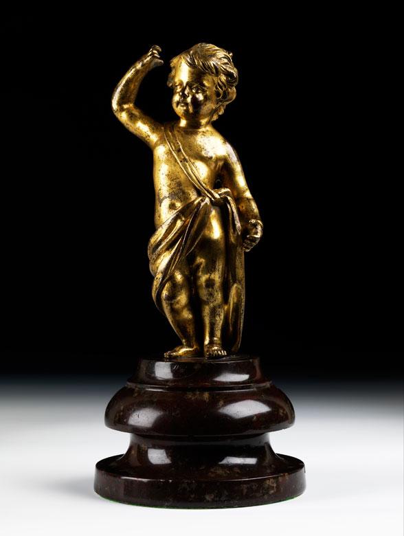 Bronzefigur eines Putto
