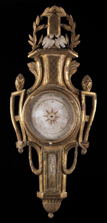Louis XVI-Barometer-Wandkasten